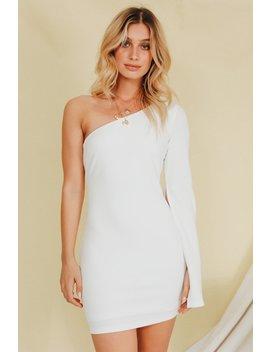 Power Couple One Shoulder Mini Dress // White by Vergegirl
