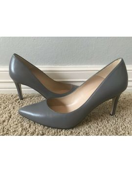 New Lk Bennett Women's Floret Warm Grey Leather Pumps Sz 37.5 7.5 $225 by L.K. Bennett