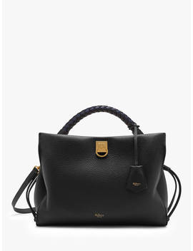 Mulberry Iris Heavy Grain & Silky Calf's Leather Shoulder Bag, Black by Mulberry