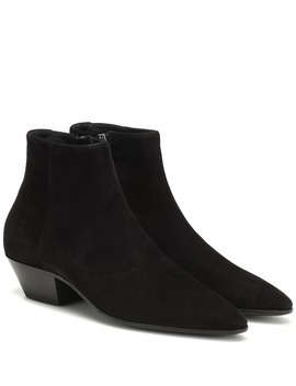 Jonas 45 Suede Ankle Boots by Saint Laurent