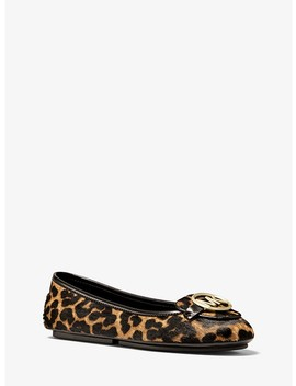 Lillie Leopard Calf Hair Moccasin by Michael Michael Kors