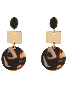 Rainforest Resin Short Drop Earrings by Accessorize
