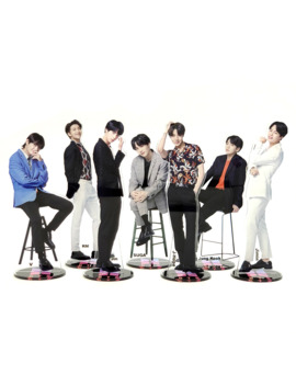 Bangtan Boys Groups Kpop Stars Group Acrylic Stand Figure Model Double Side Plate Holder Cake Topper Idol by Ali Express.Com