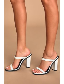 Carmona White High Heel Sandals by Lulu's