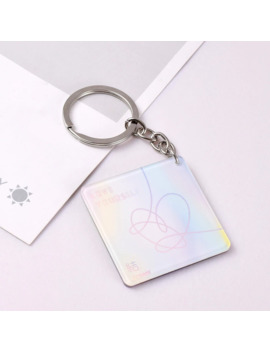 Kpop Bangtan Boy Love Yourself Answer Same Style Keyring Laser Keychain Bag Pendant by Ali Express.Com