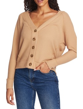 Button Front Crop Cardigan by 1.State