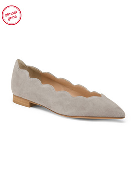 Made In Italy Pointy Toe Suede Flats by Tj Maxx