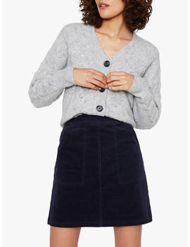Warehouse Cord Patch Pocket Skirt, Navy by Warehouse