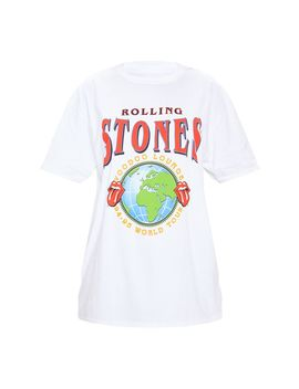 White The Rolling Stones World Tour Slogan T Shirt by Prettylittlething