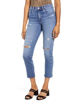 The Madison Ripped Straight Leg Crop Jeans by Blanknyc