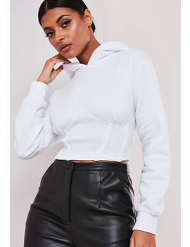 Sofia Richie X Missguided White Corset Hoodie by Missguided
