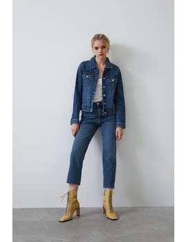 Jeans Hi Rise Straight Hög Midja Jeans Dam by Zara