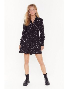 Dot Even Invited Relaxed Mini Dress by Nasty Gal