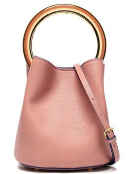 Pannier Small Pebbled Leather Bucket Bag by Marni