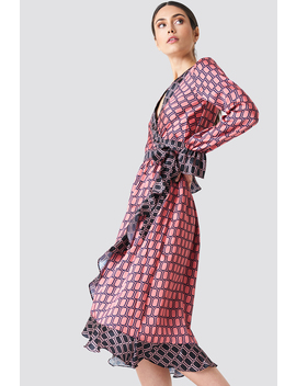 Block Colored Wrap Midi Dress Pink by Na Kd Trend