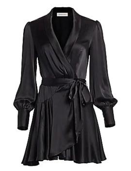 Espionage Silk Mini Wrap Dress by Zimmermann