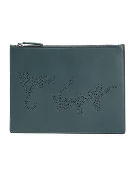 Perforated Leather Pouch by Smythson