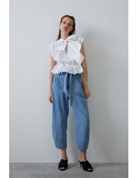 Belted Denim Pants View All Jeans Trf by Zara