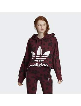Bellista Allover Print Cropped Hoodie by Adidas