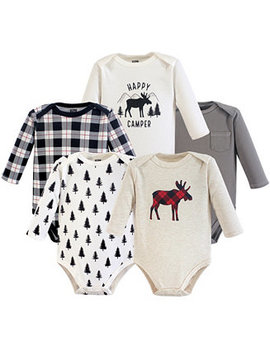 Hudson Baby Long Sleeve Bodysuits, 5 Pack, 0 24 Months by General