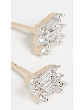 14k Triple Stack Baguette Earrings by Adina Reyter