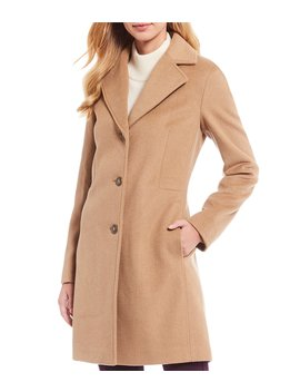 Classic Wool Cashmere Reefer Blend Coat by Calvin Klein