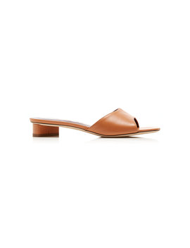 Simone Leather Mules by Staud