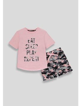 Mini Me Girls Camo Family Pyjama Set (4 13yrs) by Matalan