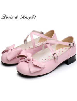 Japanese Sweet Style Champagne Bowtie Mary Jane Ballet Shoes Princess Dolly Lolita Soft Shoes by Ali Express.Com
