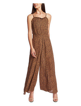 Ruffled Leopard Print Jumpsuit by General