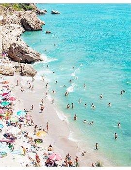 Coastal, Beach Art, Blue Water, Sea, Ocean Poster by Juliaemelian
