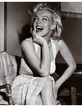 Happy, Laughing Marilyn Monroe Poster by Angelacassiani