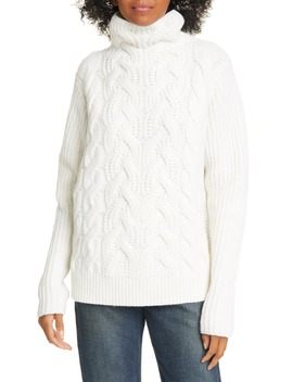 Cable Knit Lambswool Sweater by Helmut Lang