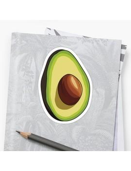 Avocado   Part 1 Sticker by Laur Art