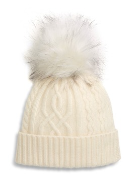 Cable Cashmere Pom Beanie by Halogen®