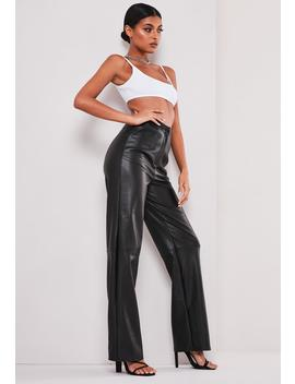 Sofia Richie X Missguided Black Faux Leather Pants by Missguided