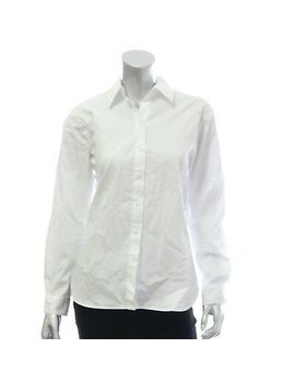 Aqua Women's Lace Back Blouse Button Down Shirt White Size S $58 E6514 by Aqua