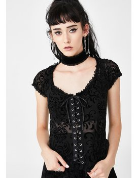 Vanquished Ruffle Top by Killstar