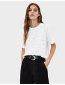 Shimmery T Shirt by Bershka