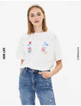 Mickey & Minnie T Shirt by Bershka