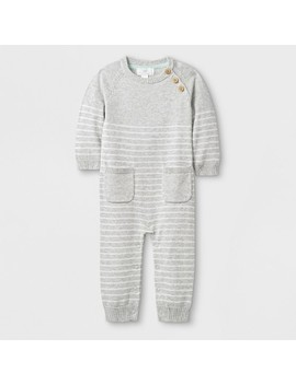 Baby Long Sleeve Romper   Cloud Island Gray by Cloud Island Gray