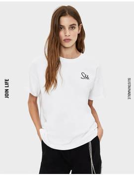 Tshirt With Print   Tees   Bershka United States by Bershka