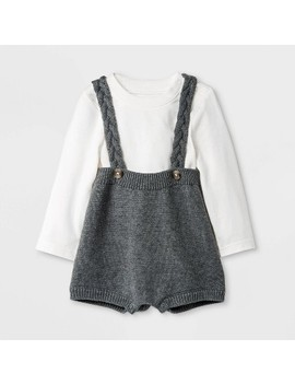 Baby Boys' Top & Bottom Set   Cat & Jack Cream/Gray by Cat & Jack Cream/Gray