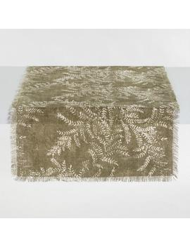 Oversized Olive Green Yellowstone Jute Table Runner by World Market