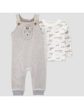 Baby Boys' 2pc Top & Bottom Sets   Just One You® Made By Carter's Gray/White by Just One You® Made By Carter's Gray/White