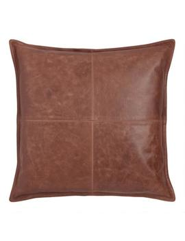 Brown Leather Kona Throw Pillow by World Market