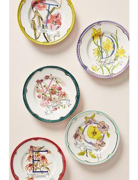 Fiona Corsini Monogram Canape Plate by Fiona Corsini