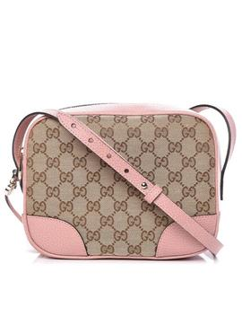 Bree Messenger Microguccissima Mini Pink Canvas Cross Body Bag by Gucci