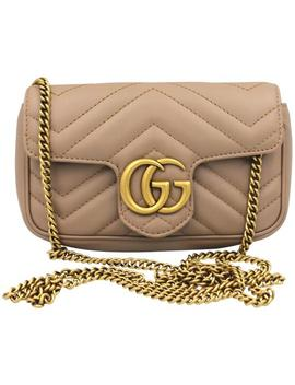 Gg Marmont Porcelain Rose Calfskin Matelasse Cross Body Bag by Gucci