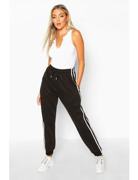 Contrast Panel Loopback Jogger by Boohoo